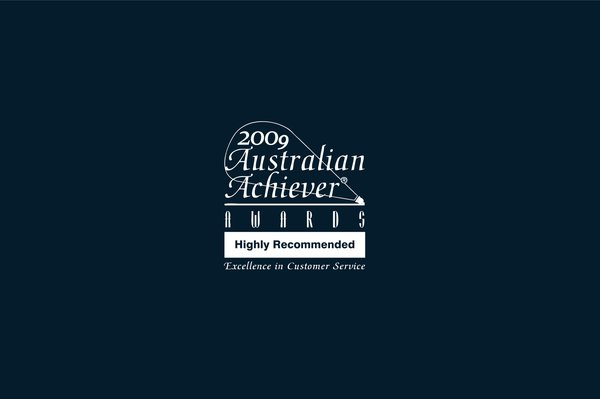 """""""Highly Recommended"""" for Excellence in Customer Service 2009"""