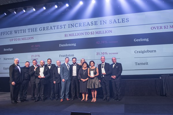 Office with the Greatest Increase in Sales (Category 1) | 1st Place 2018