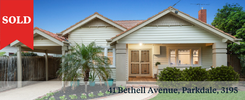 SOLD 41 Bethell Avenue, Parkdale, 3195 Barry Plant